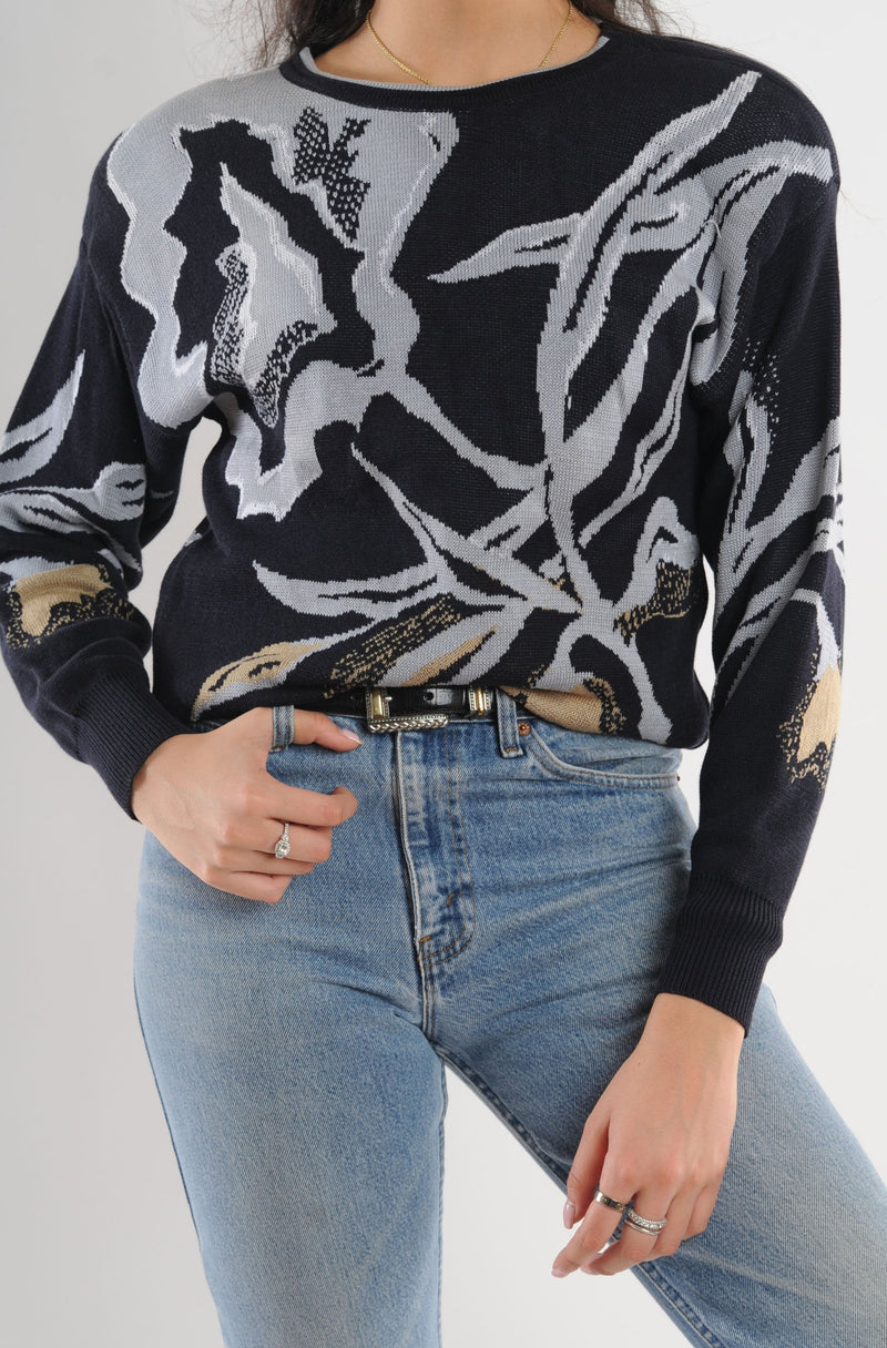 Escada Floral Sweater