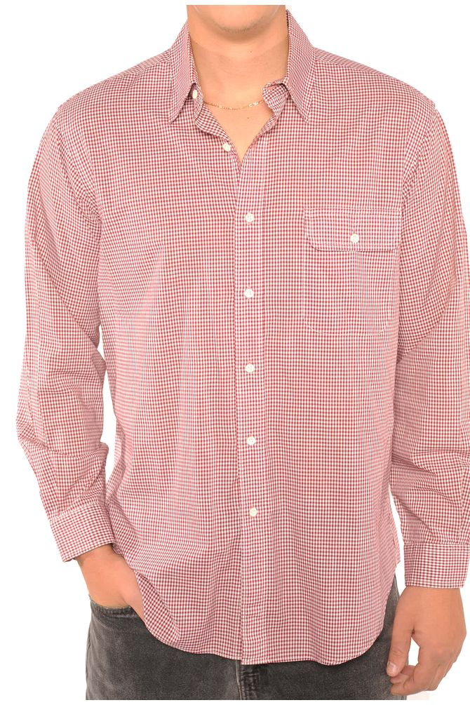 Red Checkered Button Down
