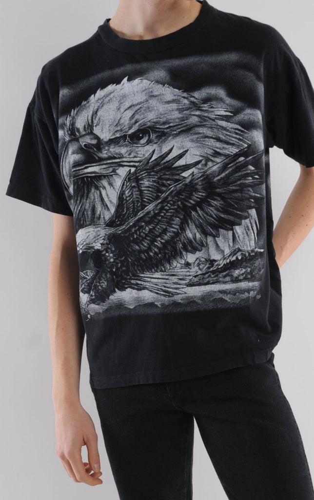Black Bald Eagle Tee