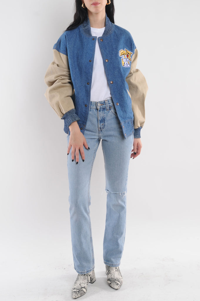 University of Kentucky Denim Bomber