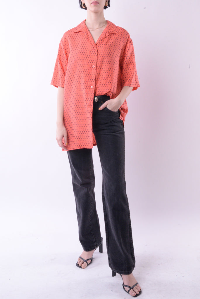 Salmon Polka Dot Blouse