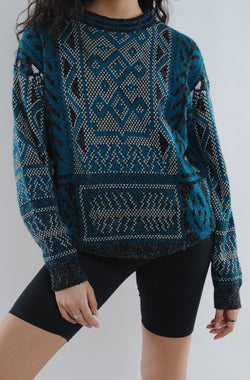 Abstract Geometric Sweater