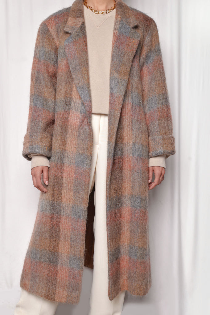 Sunset Belted Mohair Coat