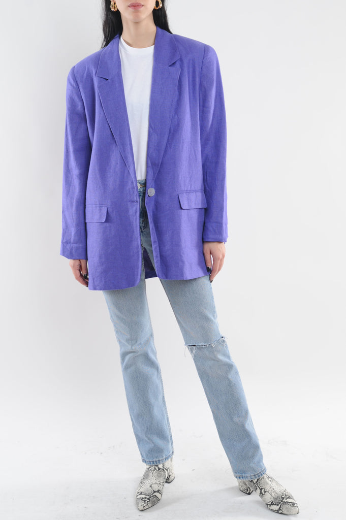 Purple Cotton Blazer