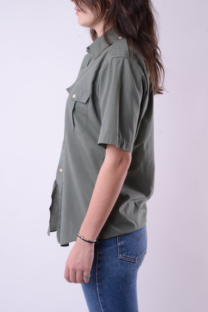 Army Green Button Down