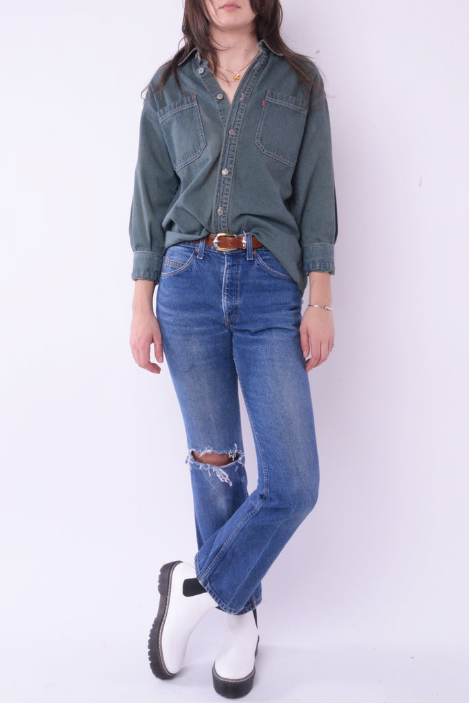 Levi's Green Denim Shirt