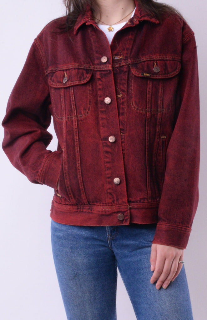 Lee Red Denim Jacket