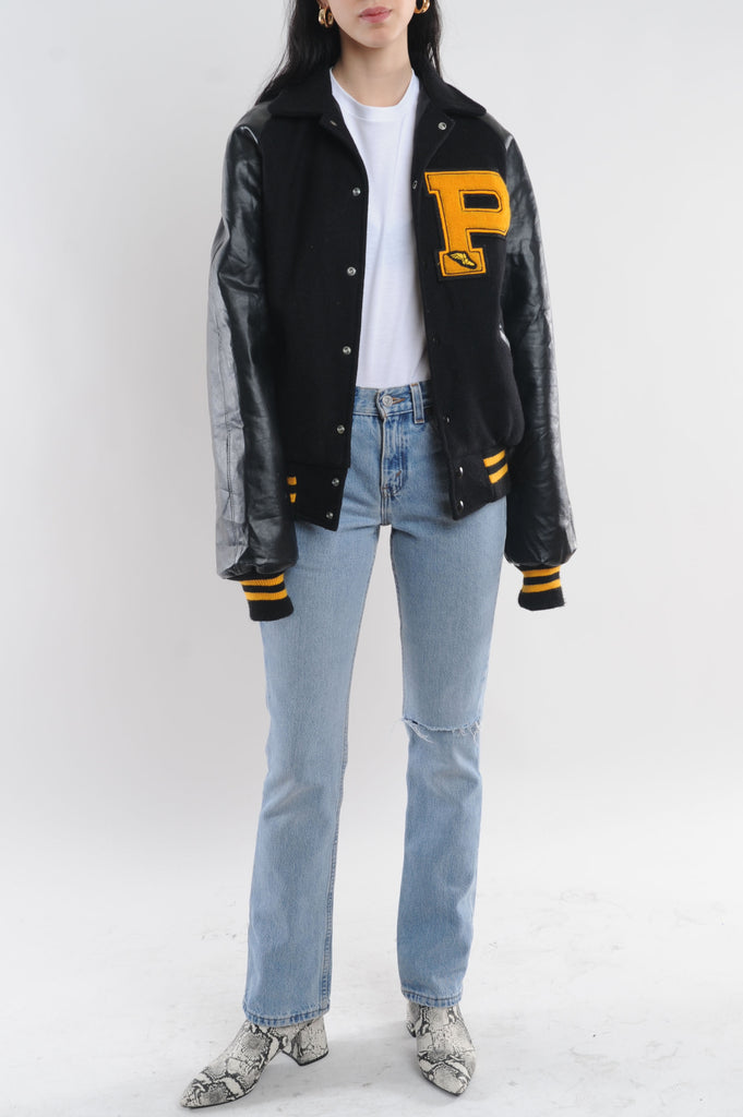 Black Letterman Jacket