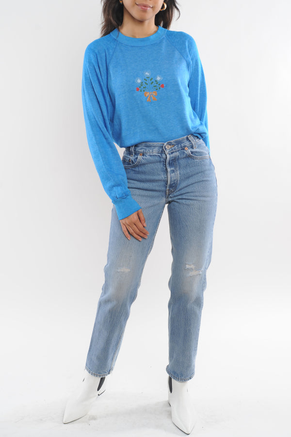 Embroidered Bouquet Sweatshirt