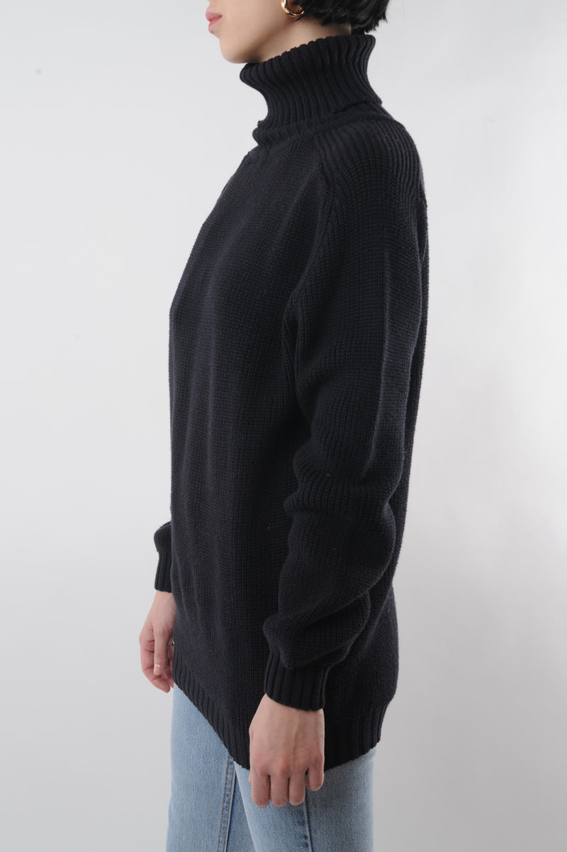 Black Turtleneck Sweater