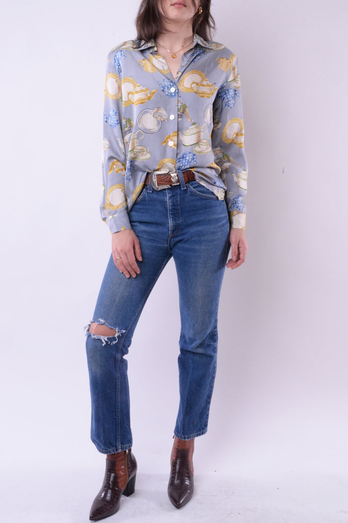 Tea Party Silk Blouse