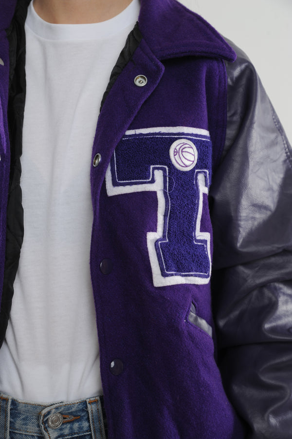 Purple Letterman Jacket