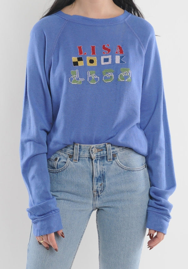 Lisa Needlepoint Sweatshirt