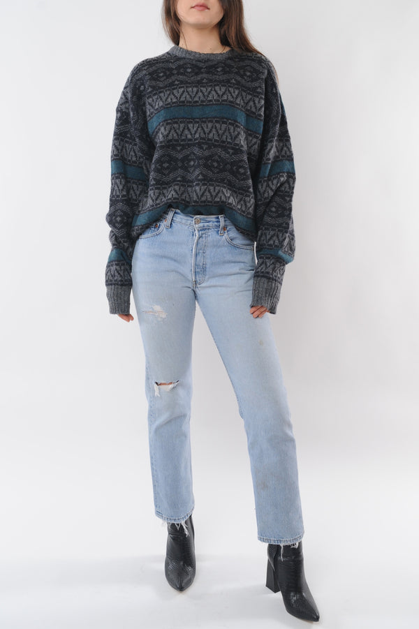 Geometric Wool Sweater