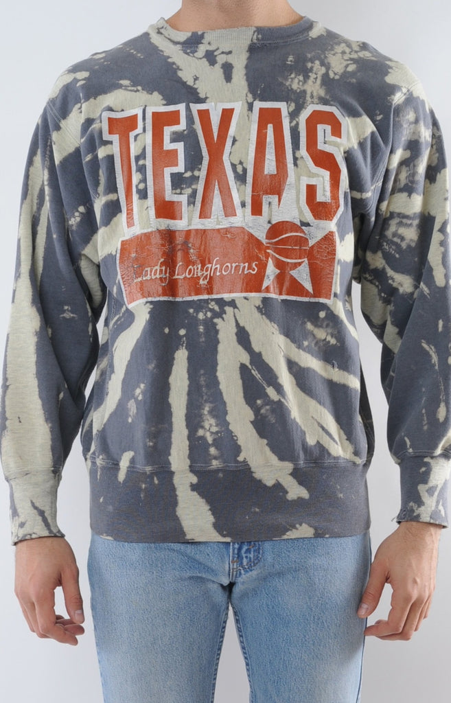 Texas University Champion Tie Dye Sweatshirt