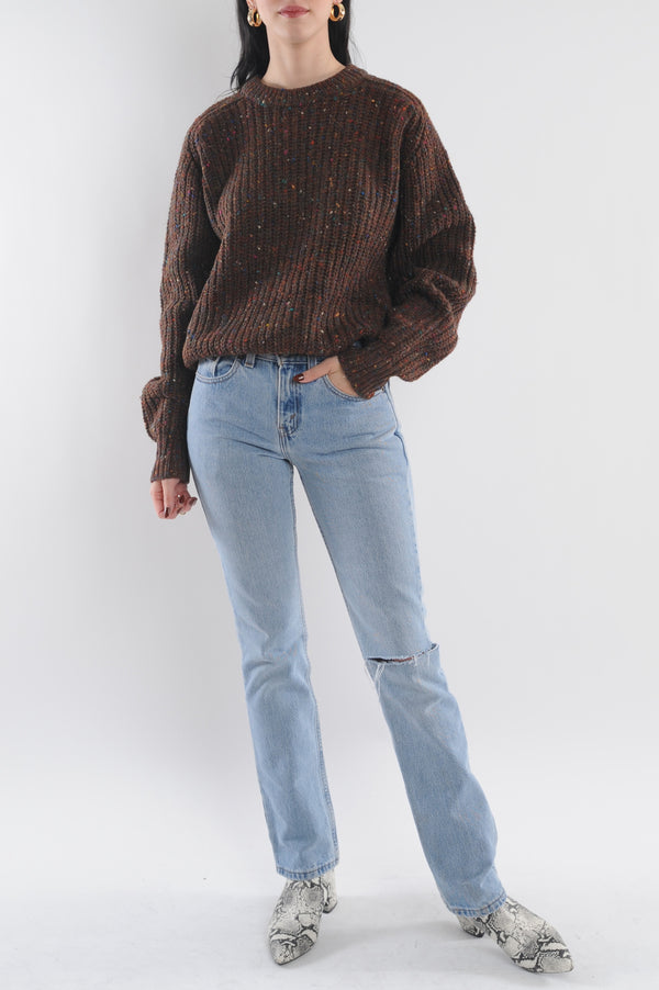 Rainbow Speck Wool Sweater