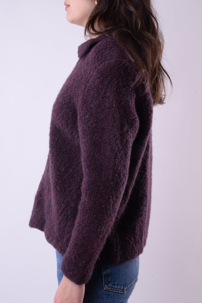 Purple Zip-Up Sweater