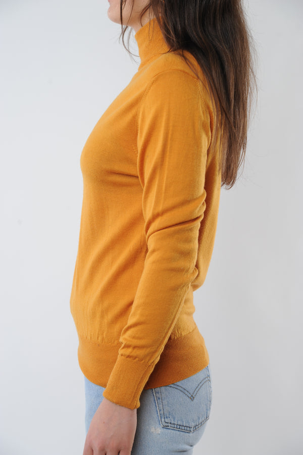 Merino Wool Mock Neck Sweater