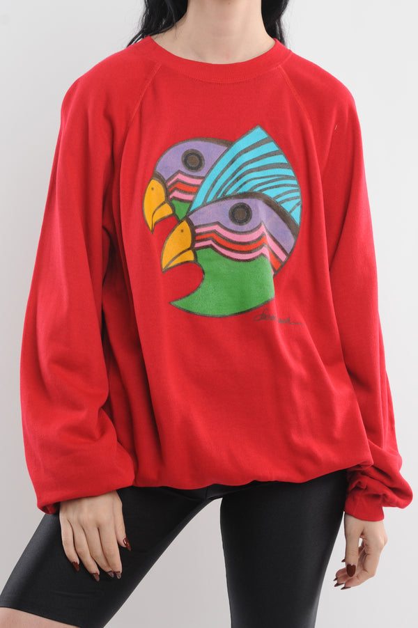 Abstract Bird Sweatshirt
