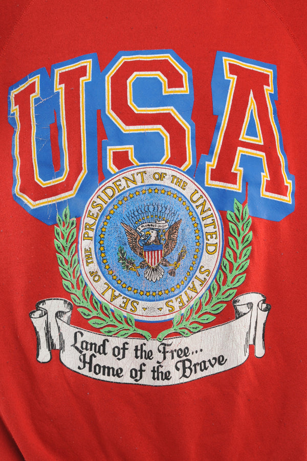 Red U.S.A. Sweatshirt