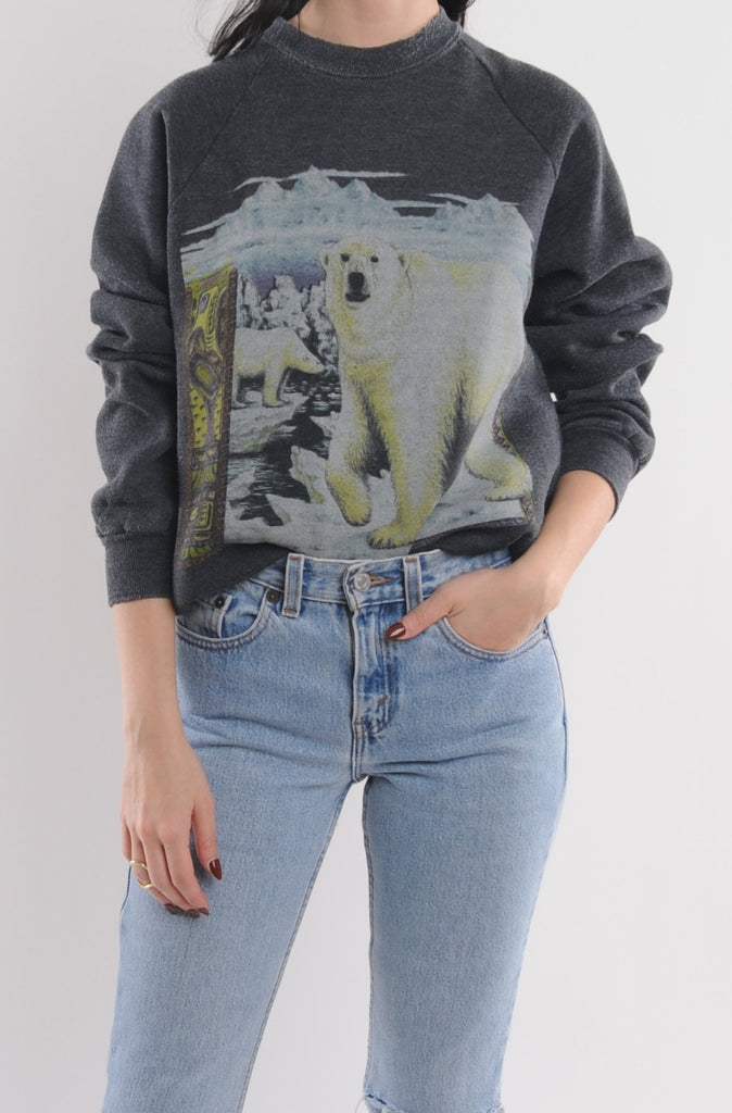 Gray Polar Bear Sweatshirt