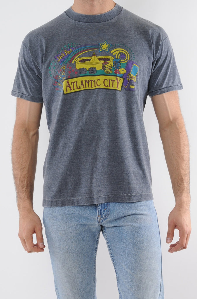 Gray Atlantic City Tee