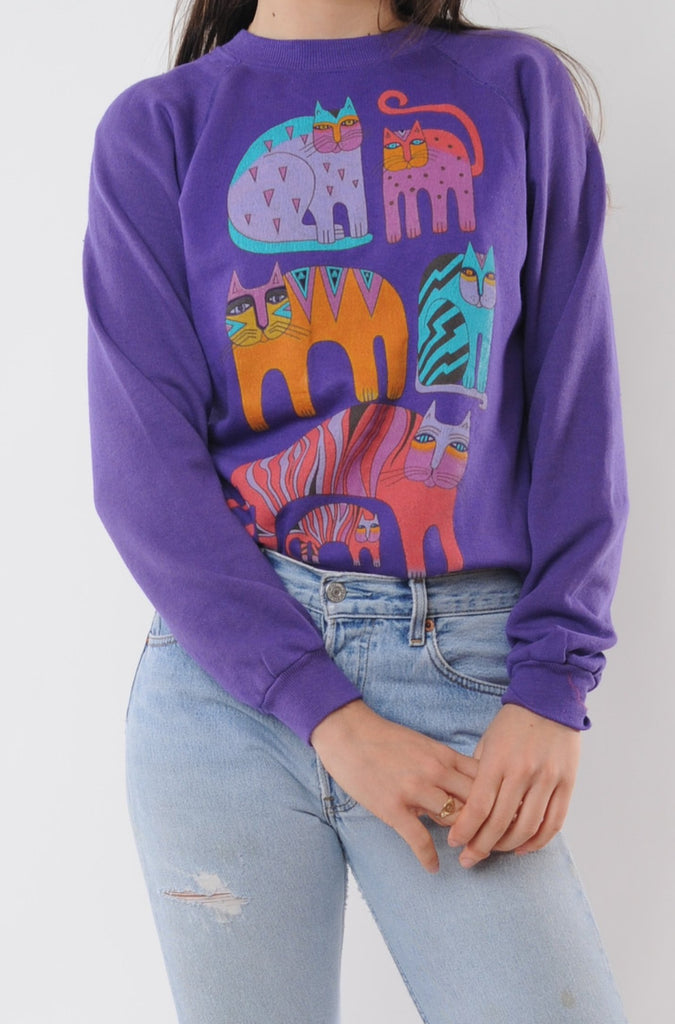 Purple Cats Sweatshirt