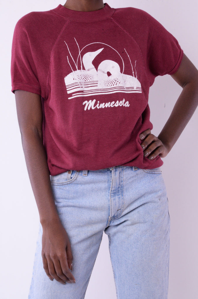 Burgundy Minnesota Sweatshirt