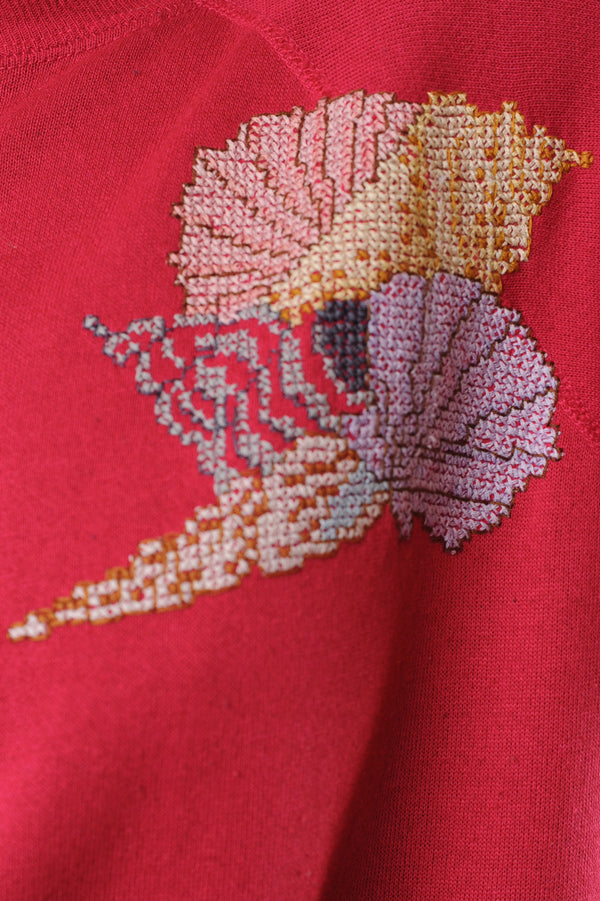 Needlepoint Seashell Sweatshirt