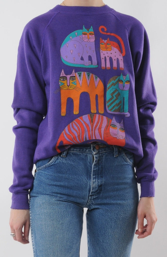 Abstract Cat Sweatshirt