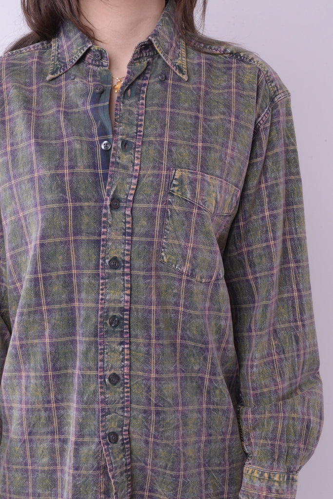 Acid Wash Flannel Shirt