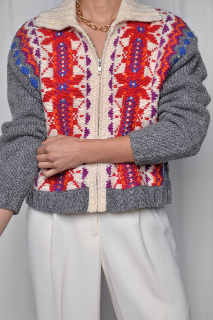 Fair Isle Sweater Jacket