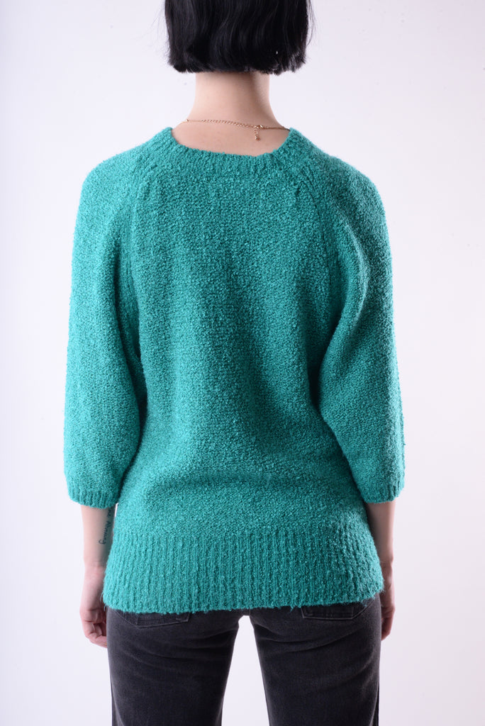 Green Textured Sweater