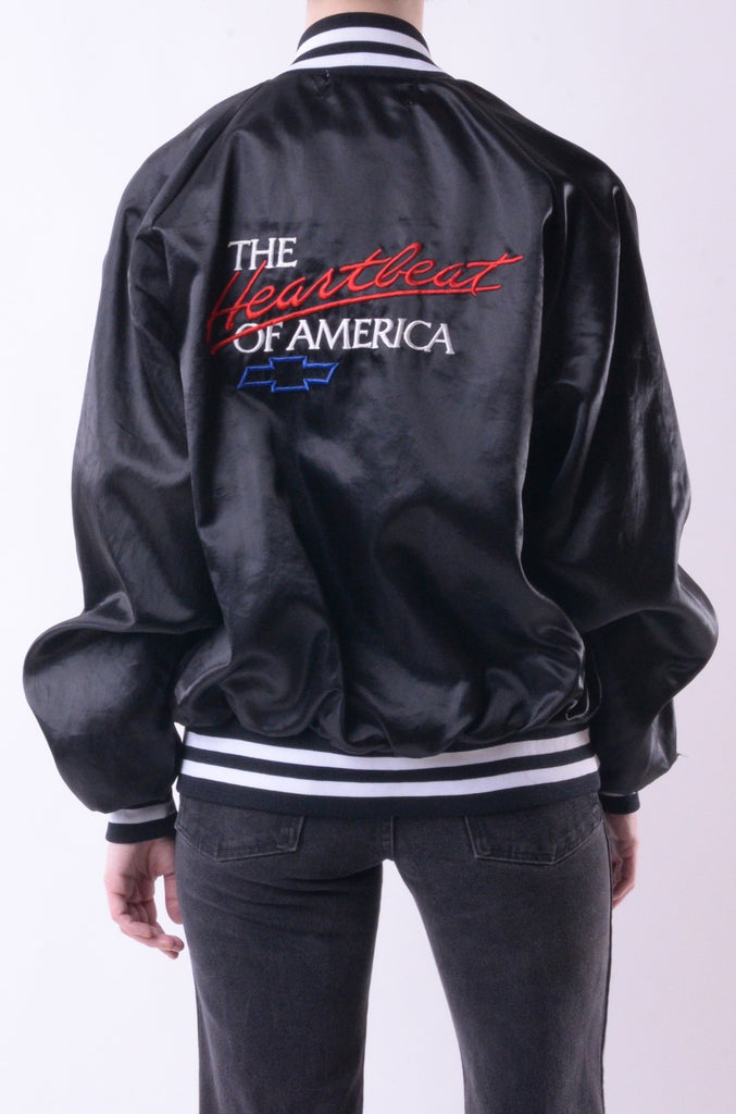 Heartbeat Of America Satin Bomber Jacket