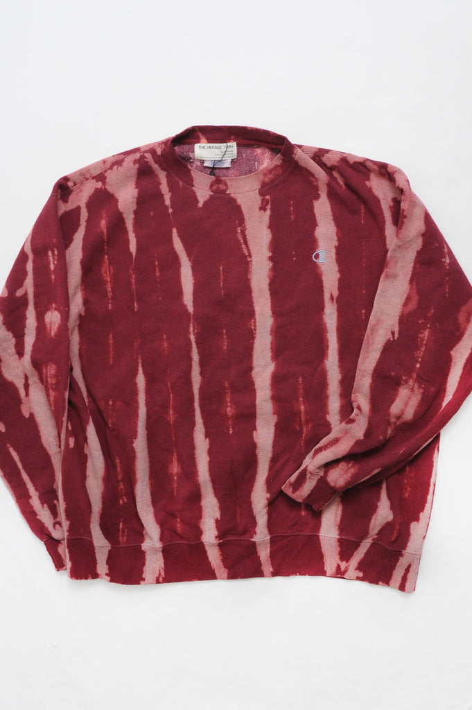 Red Tie Dye Champion Sweatshirt