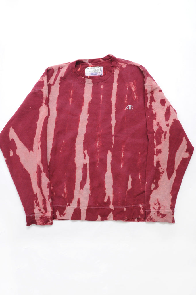 Champion Red Tie Dye Sweatshirt