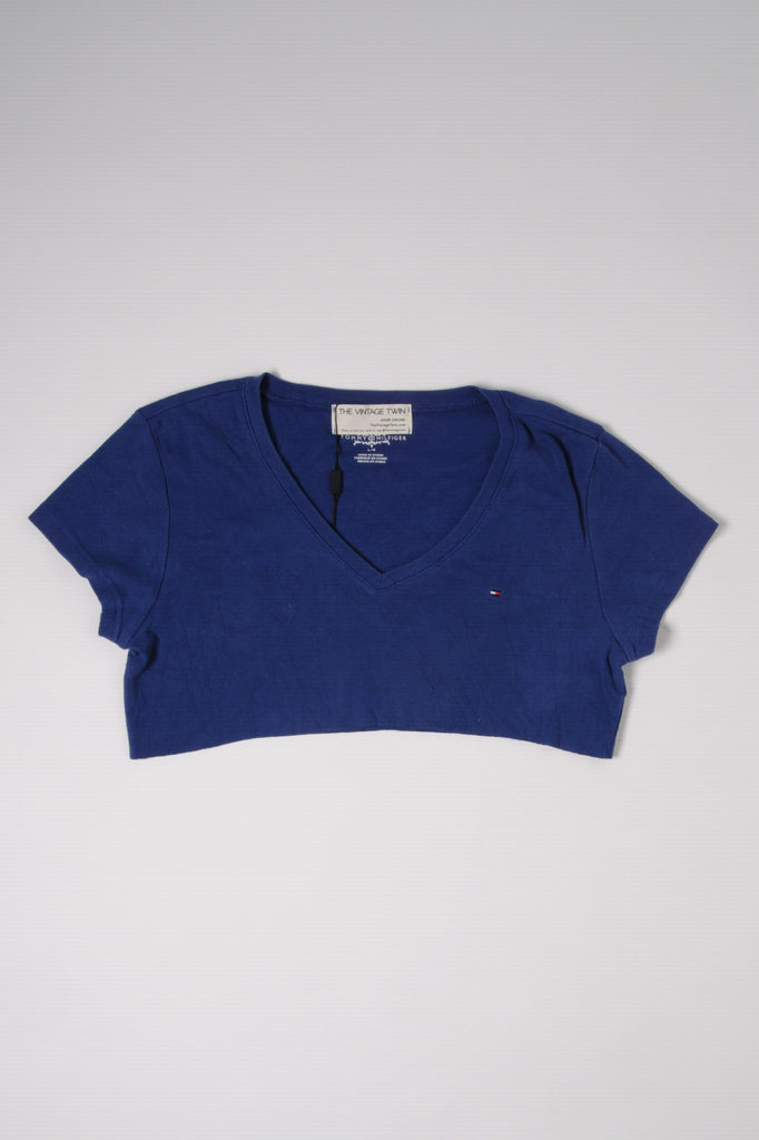Cropped Tommy V-Neck Tee