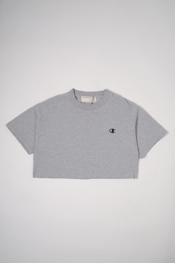 Gray Champion Cropped Tee