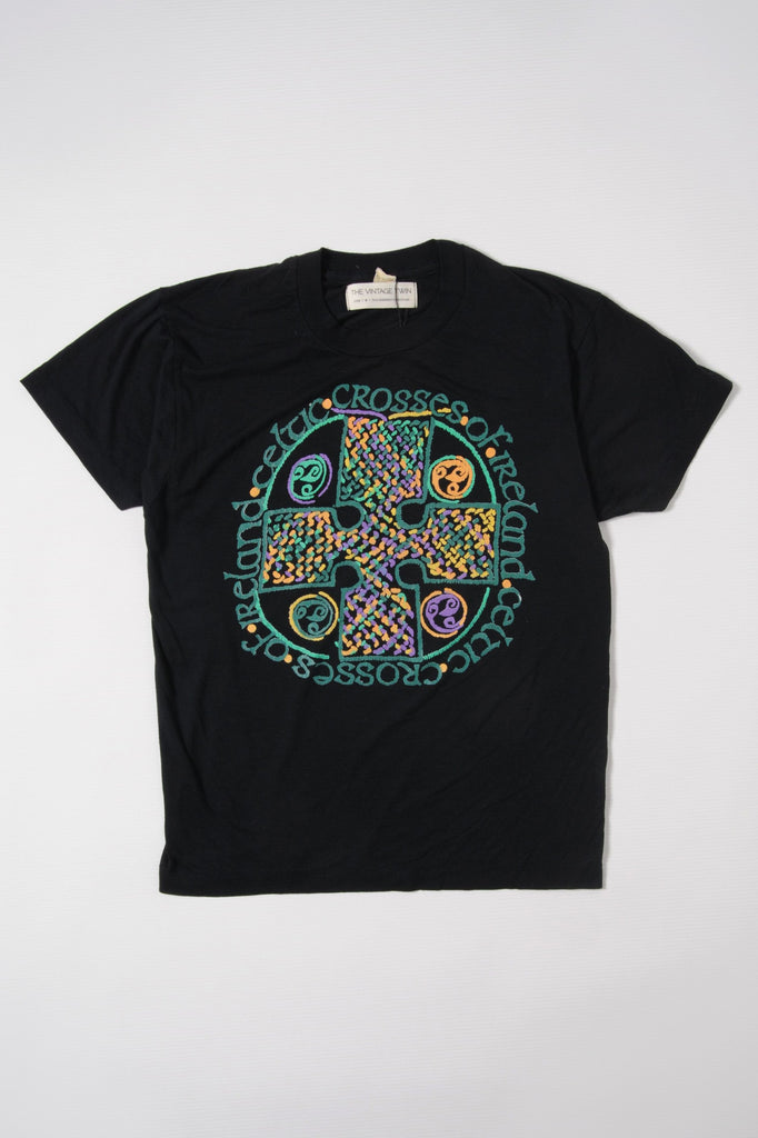 Black Celtic Cross Tee