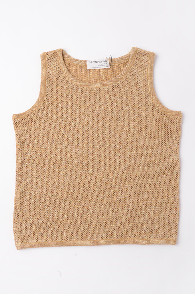 Gold Sweater Tank