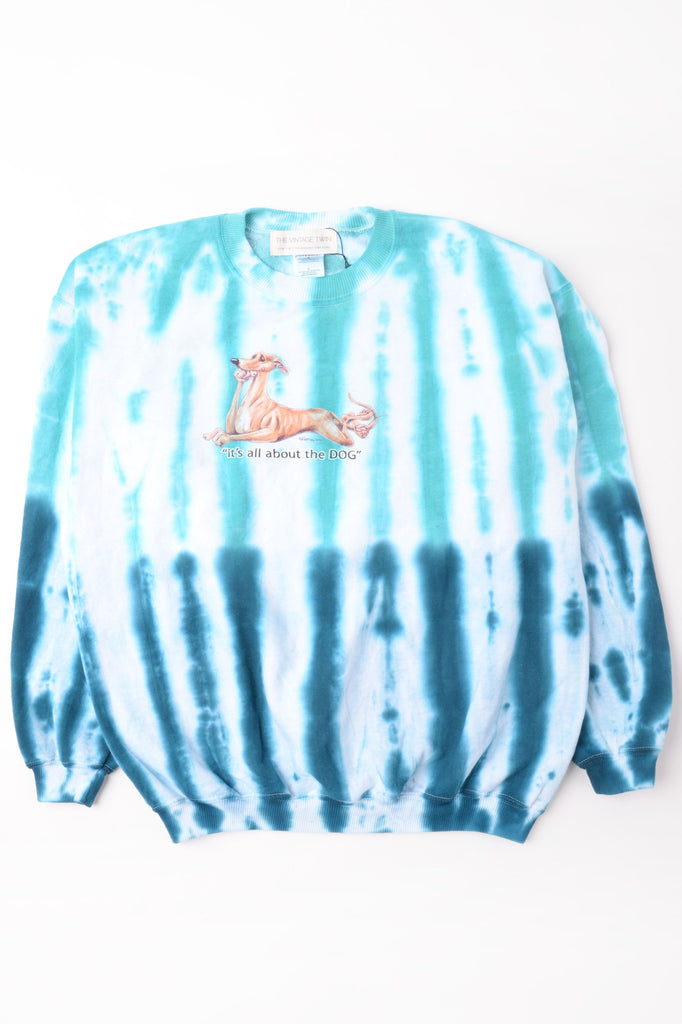 All About the Dog Tie Dye Sweatshirt