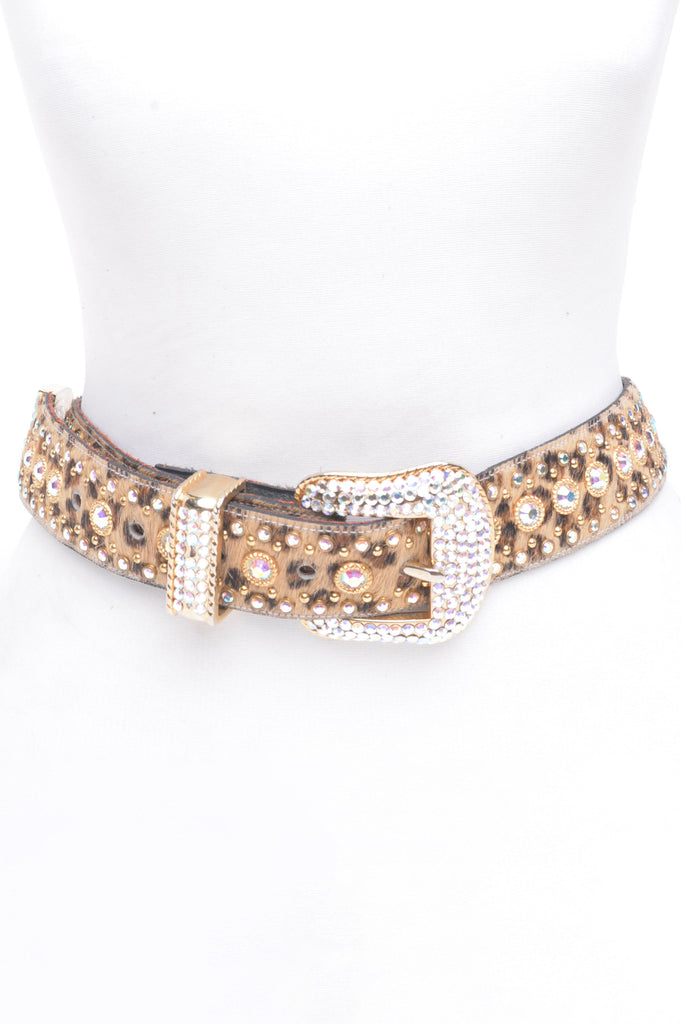 Bedazzled Leopard Belt