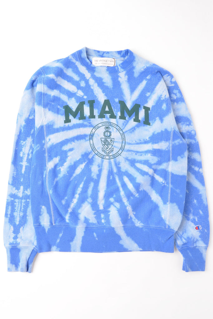 University of Miami Tie Dye Sweatshirt
