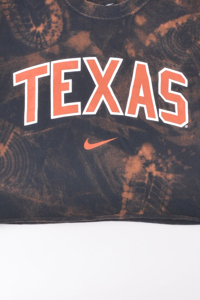 Cropped University of Texas Hand-Dyed Tee
