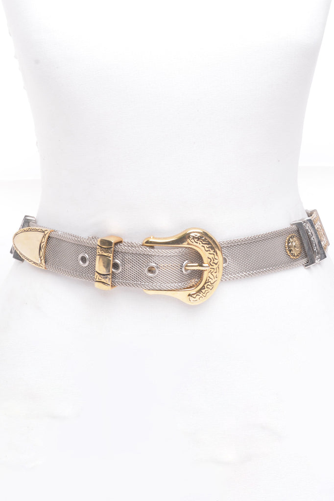 Gold and Silver Mesh Belt