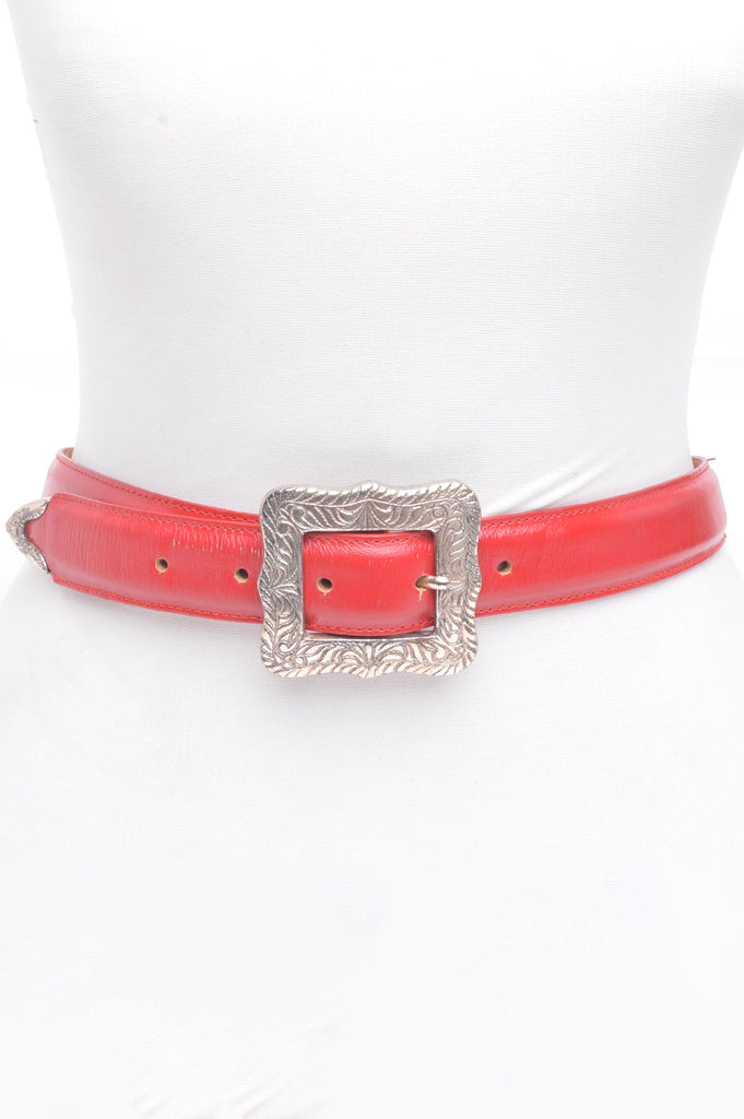 Red Leather Belt