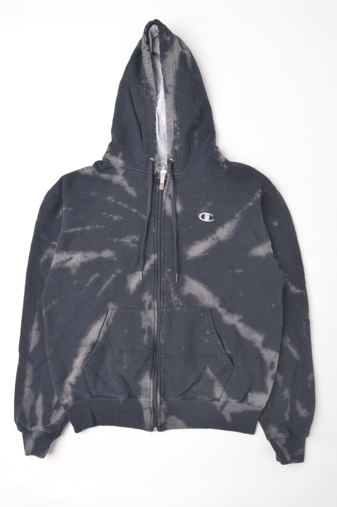 Champion Black Tie Dye Zip Up