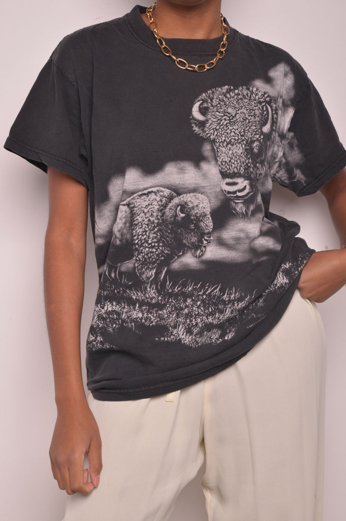 Allover Black Bison Tee