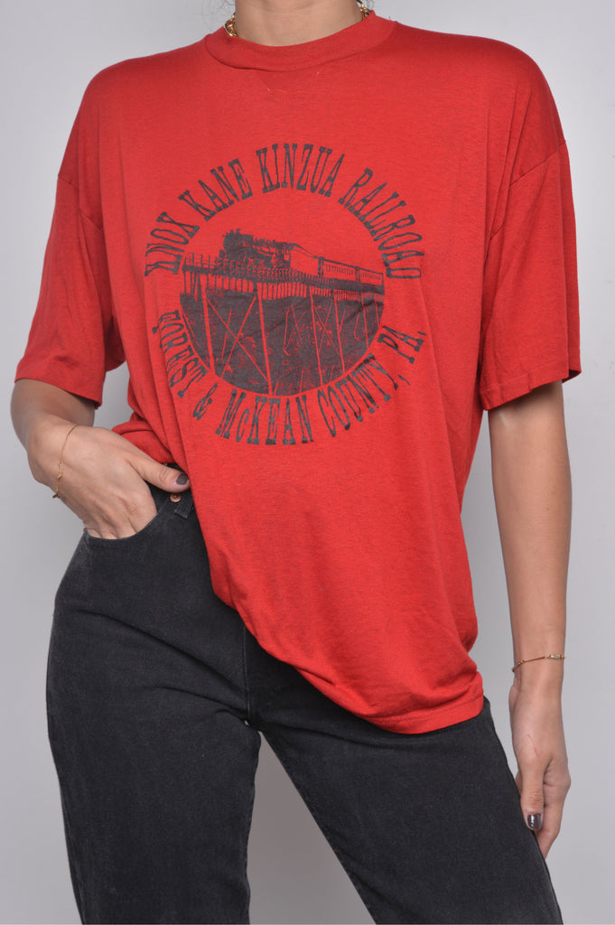 Semi-Sheer Railroad Tee