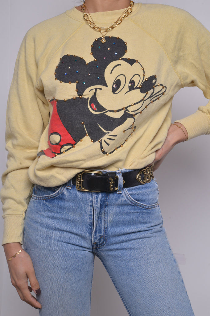 Mickey Mouse Bedazzled Sweatshirt